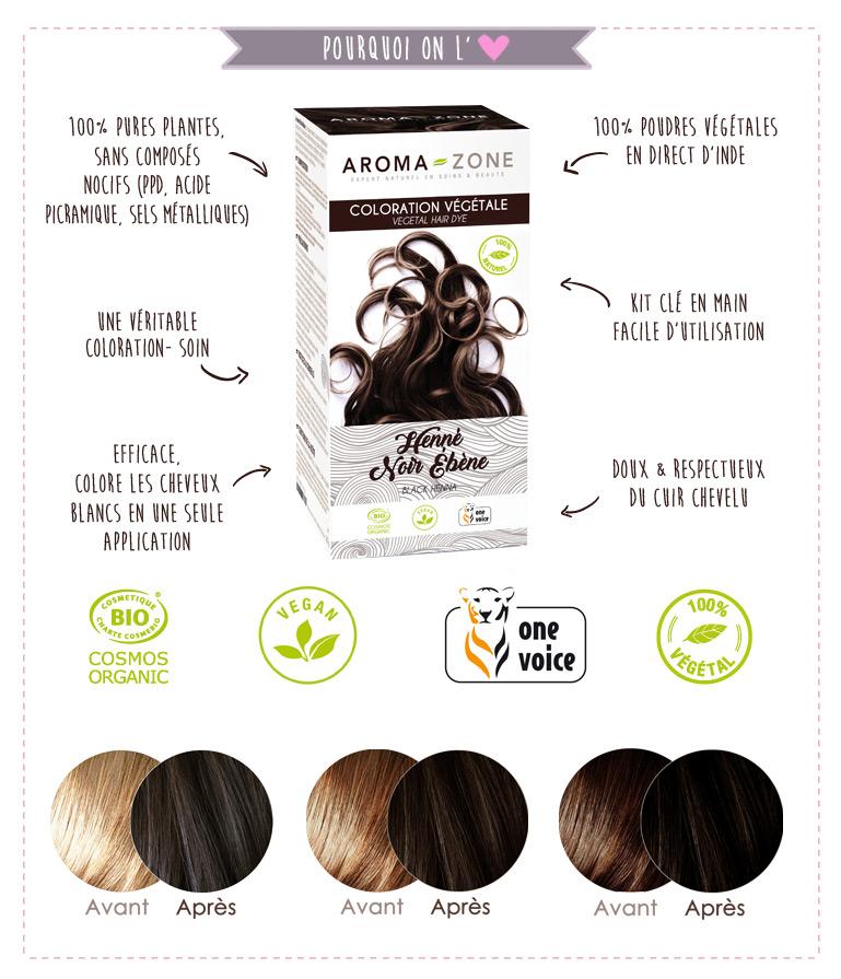 planta color henna negro ebene BIO aroma-zona